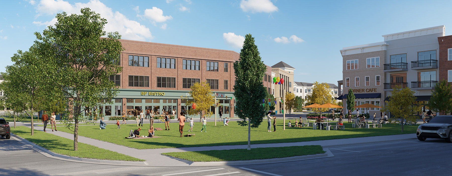 Rendering of Berry Farms Town Center