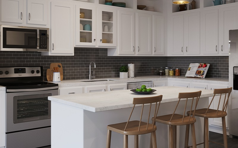 Rendering of the kitchen